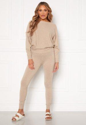 Blue Vanilla Knitted Slim Fit Trouser Jumper Set Stone S/M