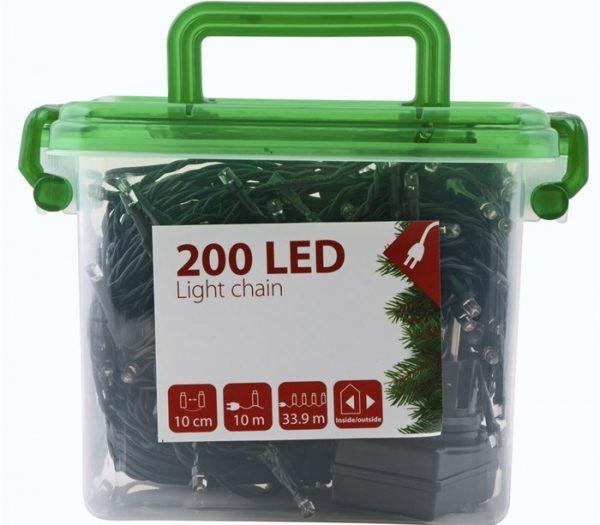 DAY - Lyskæde Med 200 LED & Timer 24,95 Meter