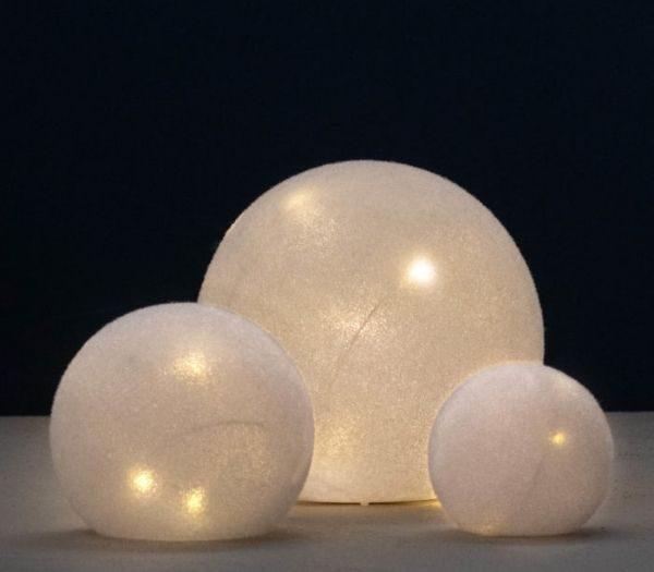 Glas LED bolde - 3 stk.