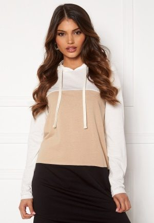 Happy Holly Camila tricot hood Beige / Black / Offwhite 48/50
