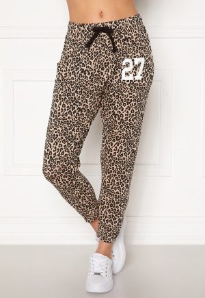 Happy Holly Carolyn pants White / Leopard / Black 48/50