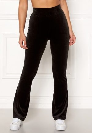 Happy Holly Kaylee velour flared leggings Black 36/38
