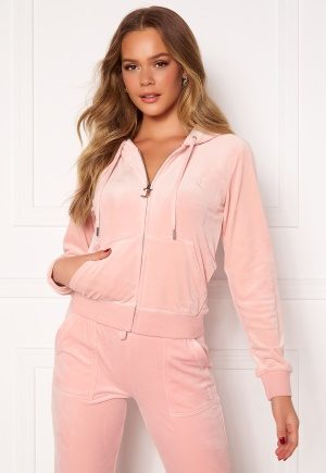 Juicy Couture Robertson Classic Velour Hoodie Pale Pink XL