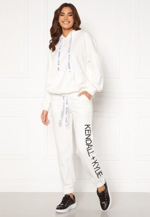 KENDALL + KYLIE K&K Active Classic Sweat Pants White XS