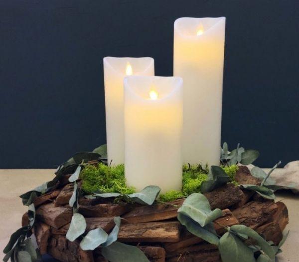 LED stearinlys sæt - Carla