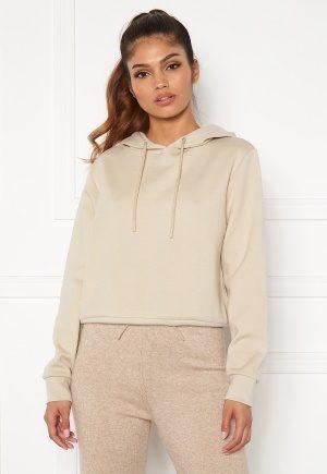 ONLY Joy L/S Hood Sweater Silver Lining L