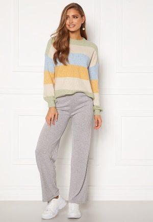 Pieces Molly Pants Light Grey Melange XL