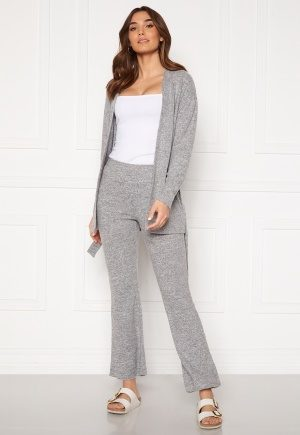 Pieces Pam MW Flared Pant Light Grey Melange S